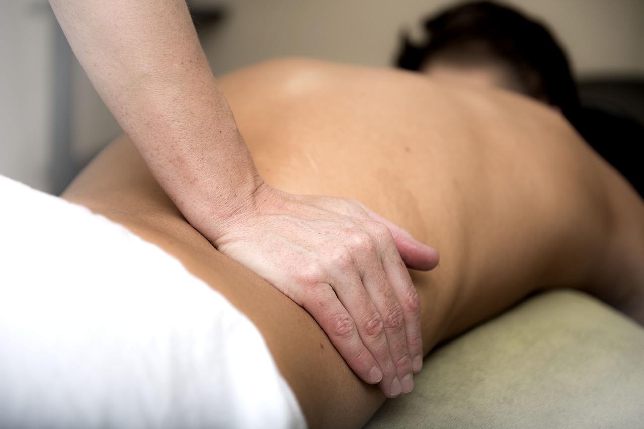 Massage unterer Rücken
