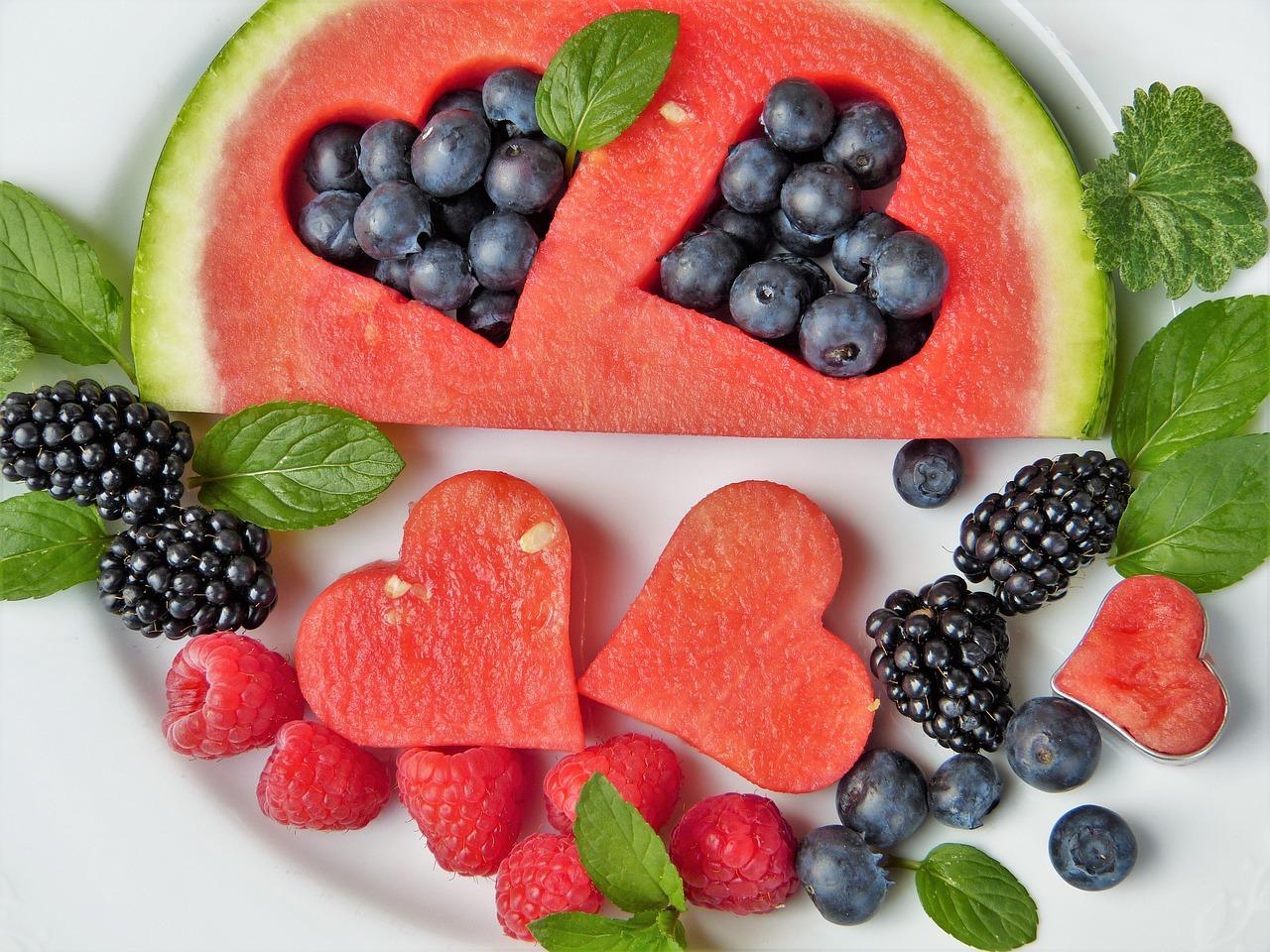 Wassermelone und Beeren